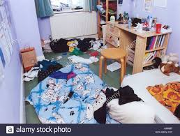 Messy Teenage Bedrooms Messy Untidy Teenage Girl S Bedroom Chaos Everywhere Stock Photo