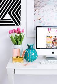 fresh bright home office desk chic organized home office