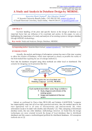Difference Between Logical And Physical Design In Sad Pdf A Study And Analysis In Database Design By Merise