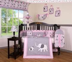 bedding sets geenny image boutique pink gray elephant 13pcs crib bedding sets