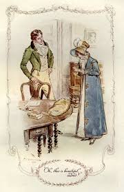 oh this is beautiful indeed illustration by c e brock in her  fanny s reaction to edmund s gift of a gold chain for her cross charm mansfield park jane austen illustrated by c e brock