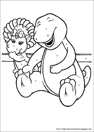 Small Picture Barney Coloring Pages Educational Fun Kids Coloring Pages and