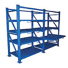 metal storage shelves. roll-out sheet metal rack shelving storage shelves e