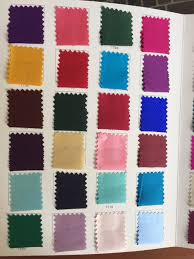 Us 390 85 10 Off Howmay 100 Pure Silk Charmeuse Satin Fabric 30m M 114cm Color Chart Especially Heavy Weight For Dress Or Cheongsam Multicolor In