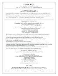 Instructional Assistant Resume Adorable Sample Resume For Special ...