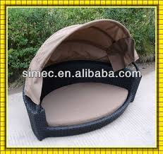 Hdpe Wicker Rattan Outdoor Dog Bed With Canopy Scpb-006 - Buy ...