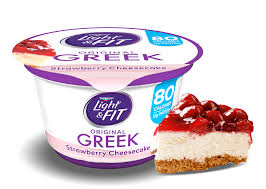 Dannon Light And Fit Weight Watchers Points Strawberry Cheesecake Greek Yogurt Light Fit