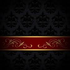 red and black vintage background. Plain And Black Vintage Background With Gold And Red Border Oldfashioned  Patterns Stock Photo For Red And Vintage Background 0