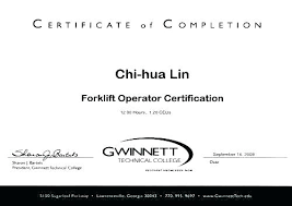 Forklift Operator Certification Requirements