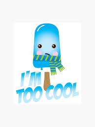 Lustige Zu Coole Sprüche Netter Eiscreme Charakter Mit Schal Für
