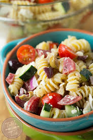 this chilled mediterranean pasta salad comes together in no time perfect for warm days and