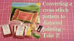 Converting a <b>cross</b> stitch pattern to <b>diamond painting</b> ~ Take 2 ...