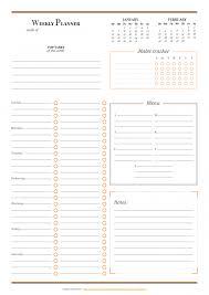 Download Printable Horizontal Weekly Planner Pdf