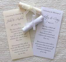Scroll Wedding Invitations Ebay
