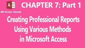 Step By Step Guides To Designing Professional Reports In Ms