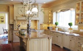... mexican style kitchen color idea with light brown backsplash also  classic island ...