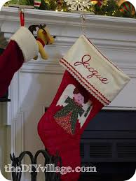 Handmade Christmas Stockings Handmade Christmas Stocking The Diy Village