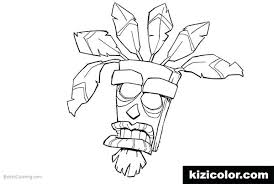 Ideas Crash Bandicoot Coloring Pages And From Crash Coloring Page