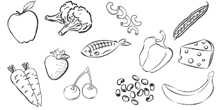 Small Picture Healthy Food Coloring Pages Healthyfood Colouring Pages 12499