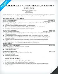 Public Administrator Sample Resume Custom Business Administration Objective Resume Example Healthcare Sample 44