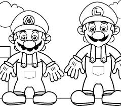 Mario And Luigi Coloring Pages Printable And Coloring Printable
