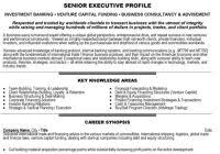 Investment Banker Resume Www Sailafrica Org