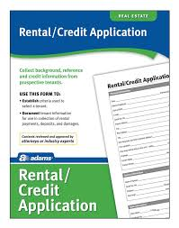 Rental Credit Application Rental Credit Application Forms And Instructions