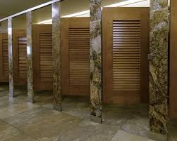 Partition Bathroom Design Ironwood Manufacturing Louvered Door Toilet Partition With