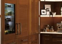refrigerator that looks like a cabinet. Interesting That Up What Looks Like Another Cabinet To Reveal An Icebox Is Pretty Nifty  If Youu0027re Thinking About Installing A Camouflaged Cooler In Your Kitchen On Refrigerator That Looks Like A Cabinet E