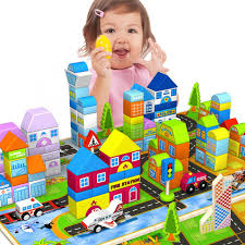 Colorful 200 Grains Building Blocks Wooden Children\u0027s Toys Baby Intelligence 1-2-3-6 Years Old Gift for Kids