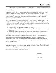 Sample Cover Letter For System Administrator Guamreview Com