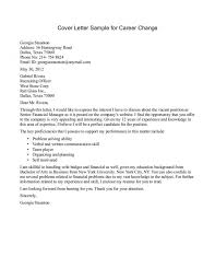 Job Change Cover Letter Gallery Cover Letter Sample For Cover