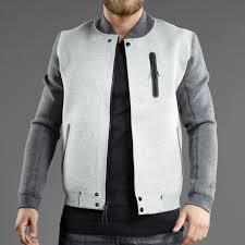 mens clothing nike sportswear tech varsity jacket 3mm dark grey heather