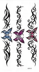 Nalepovací Tetování Ornamenty A Motýlci Karnevalové Kostýmy A