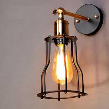 industrial lighting fixtures. $40.52- Vintage Industrial Lighting Wall Lights E27 Country Small Black Metal Lamps Edison Fixtures E