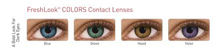 Freshlook Colorblends Toric Color Chart Freshlook One Day 10 Coloured Contact Lenses