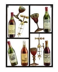 benzara 13866 benzara 13866 wine time wine metal wall art decor regarding best and newest wine