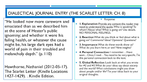 the scarlet letter rdquo by nathaniel hawthorne ppt dialectical journal entry the scarlet letter ch 8