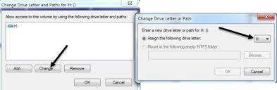 change drive letters