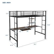Isabelle & Max™ Tradera Twin Loft Bed with Built-in-Desk by ...