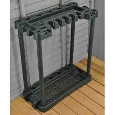 garden tool rack storage holder with wheels
