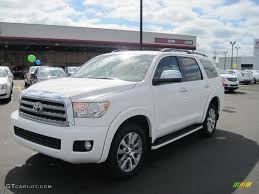 2011 Blizzard White Pearl Toyota Sequoia Limited 4WD #46070233 ...