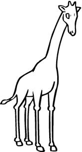 Giraffe Zonder Vlekken Kleurplaat Gratis Kleurplaten Printen