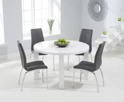 aqua 120cm round high gloss furniture white dining table