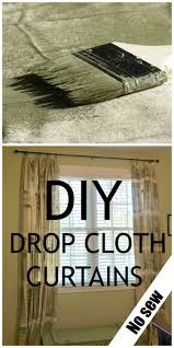 Diy Drop Cloth Curtains Diy Painter Tarps Curtains Debbiedoos