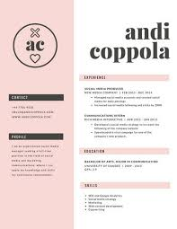 Pretty Resume Templates Stunning Customize 28 Resume Templates Online Canva