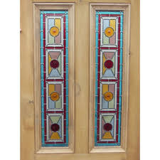 edwardian 4 panel exterior door with stained glass hargreaves