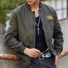 souvenir jacket men jan military style flight jackets for men ma 1 embroidered green er jacket american pilot coat designer jackets summer jacket