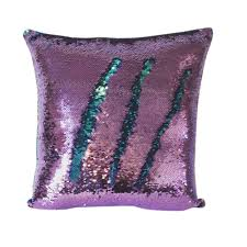 Amazon.com: Livedeal Reversible Sequins Mermaid Pillow Cases 4040cm Purple  and Blue: Home & Kitchen