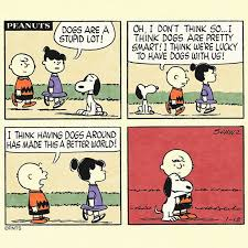 """PEANUTS on Twitter: """"<b>Dogs make the world</b> a better place ..."""